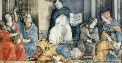 """Foto: """"Triumful Sf. Thomas Aquinas asupra ereticilor"""" de Filippino Lippi - imagine preluată de pe Wikimedia Commons"""