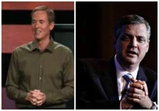 Andy Stanley (stânga) și Albert Mohler (dreapta) - imagini preluate de pe google images, colaj făcut de mine