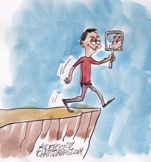 Să crezi în tine însuți nu este întotdeauna cea mai bună idee - caricatură de Ron Anderson - christianpost.com