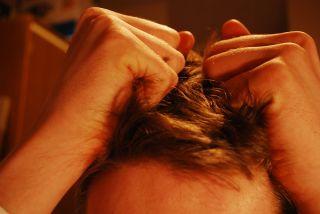 Uneori chiar ne vine să ne tragem de păr... - imagine preluată de pe commons.wikimedia.org
