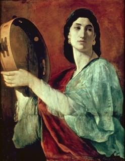 Pictură cu Miriam din Biblie de Anselm Feurbach (1862) - imagine preluată de pe site-ul behindthename.com
