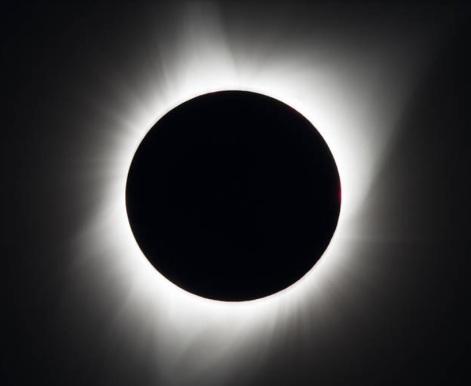 imagine a unei eclipse totale de soare - imaginea este un screen preluat de mine de pe site-ul nasa.gov